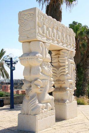 jaffo: Arch in Jaffa Stock Photo