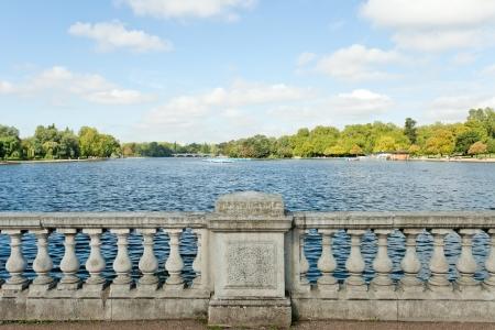 hyde: london hyde park lake Stock Photo