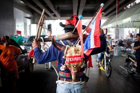 protestor: A protestor in bangkok thailand