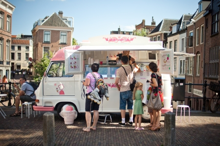 Ice cream car in holland