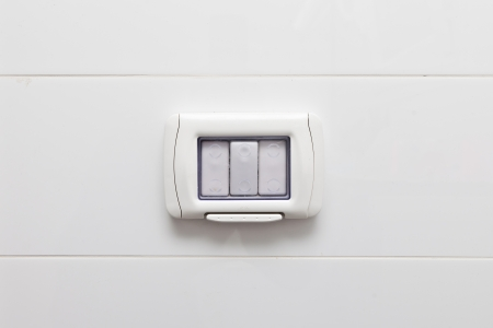 cropped off: Waterproof safety light switch  for bathrooms and general interior use