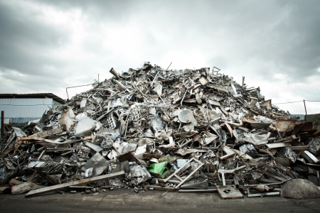 Pile of Aluminium scrap for recycle photo