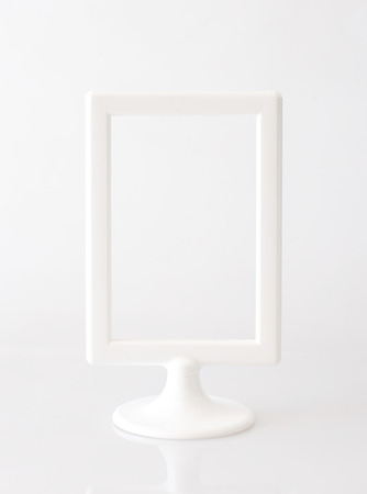 White vertical picture frame photo