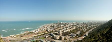 Haifa, Israel panoramic view from mount Carmel photo