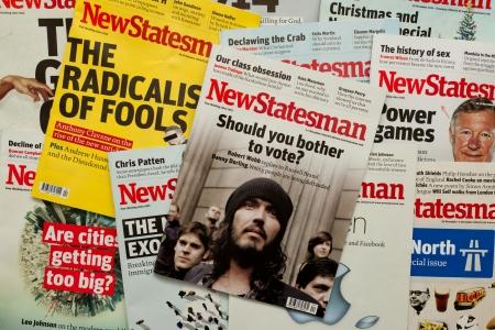 statesman: Politiche orientate Covers New Statesman Magazine Editoriali