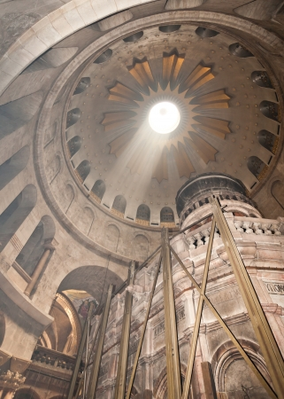 Church of the Holy Sepulchre skylight and tomb rotunda in Jerusalem