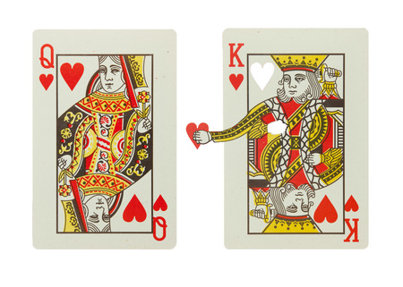 King of hearts gives his heart to the queen of hearts Banco de Imagens - 25772058