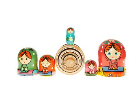 russian nested dolls: Matryoshka - Russian Nested Dolls  Stock Photo