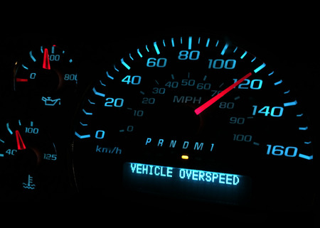 Vehicle over speed warning light Banco de Imagens