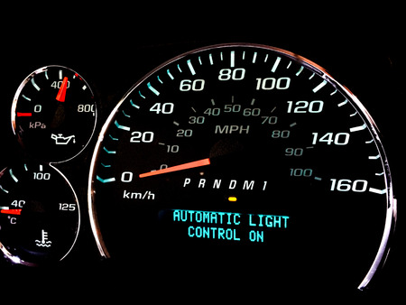 Automatic light control on warning light on dashboard photo