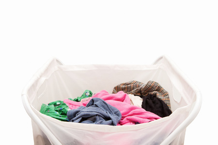 Laundry basket with cloths