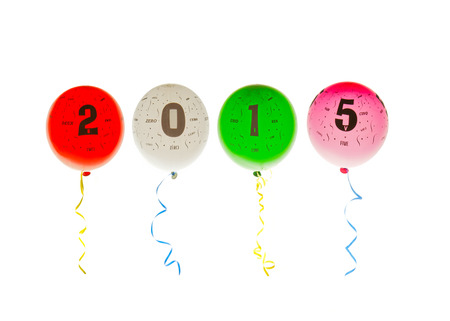 2015 Balloons with numbers and words photo