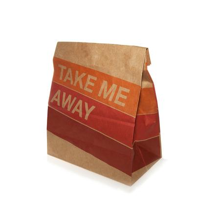 Take away brown paper bag