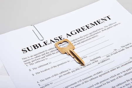 Sublease agreement with a golden key