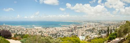 Haifa Israel panoramic view from mount Carmel Banco de Imagens - 29378579
