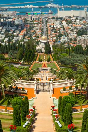 Bahai temple and gardens in Haifa Israel photo