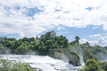 rhein: Rhine falls with blue sky