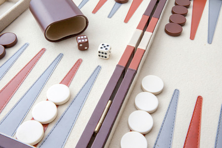 Backgammon set with dice Banco de Imagens - 29760241