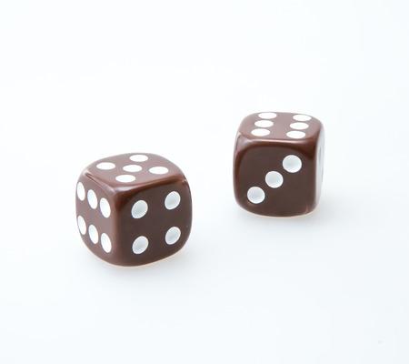 Brown pair of dice