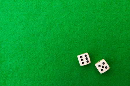 Green casino table with dice background Banco de Imagens - 29760323