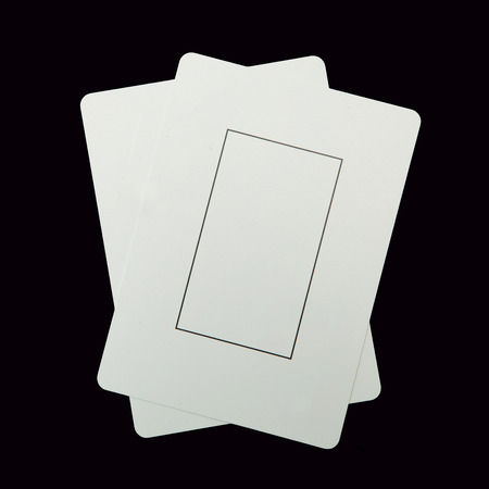 Two blank play cards