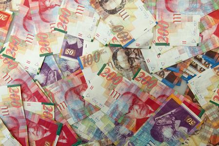 Israeli shekel notes background Banco de Imagens - 30807058
