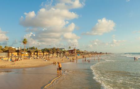 haifa: Mediterranean beach of Haifa, Israel Editorial