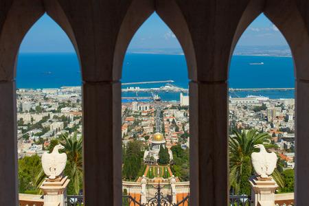 Una bella immagine dei Giardini Bahai di Haifa Israele. Archivio Fotografico - 31828491