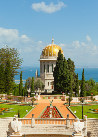 haifa: A beautiful picture of the Bahai Gardens in Haifa Israel.