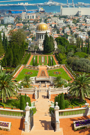 bahai: A beautiful picture of the Bahai Gardens in Haifa Israel.