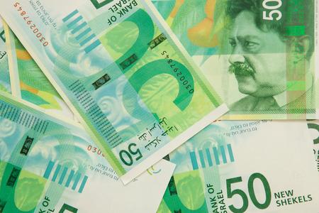 New fifty shekel notes Banco de Imagens - 32281238