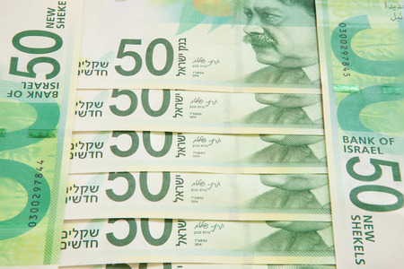 New fifty shekel notes Banco de Imagens - 32281239