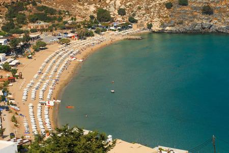 lindos: Blue bay of Lindos, Rhodes - Greece.