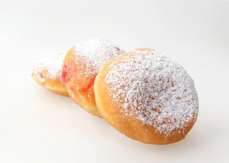 holiday food: Hanukkah doughnut - Traditional jewish holiday food.