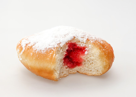 Hanukkah doughnut - Traditional jewish holiday food. Banco de Imagens - 32824236