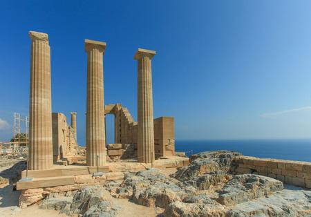 lindos: Lindos ancient Acropolis ruins