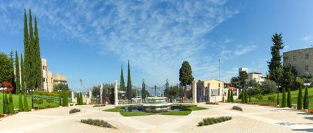 Bahai gardens in Haifa, Israel photo
