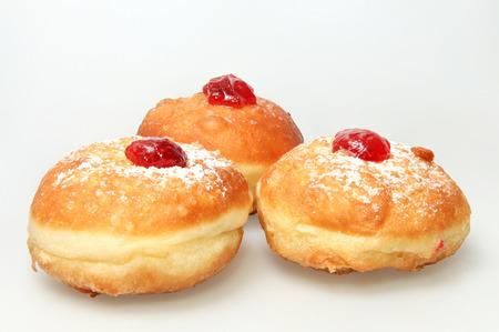 Hanukkah doughnut - Traditional jewish holiday food. Banco de Imagens - 33120373