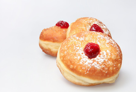 Hanukkah donut - Cucina tradizionale festa ebraica. Archivio Fotografico - 33120266