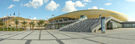 maccabi: Sami Ofer stadium, exterior view of the new Sami Ofer soccer stadium, new home base of Maccabi Haifa Fc football club.  build to replace the old stadium. Editorial