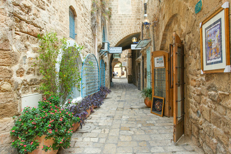 Typical alley in Jaffa, Tel Aviv - Israel