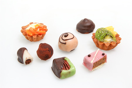 petit: Various Petit fours Stock Photo