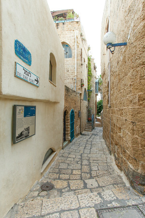 yaffo: Callej�n t�pico en Jaffa, Tel Aviv - Israel Editorial