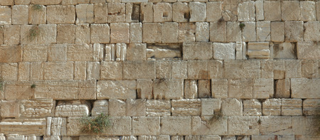 Stones of the wailing wall in Jerusalem Banco de Imagens - 33482397