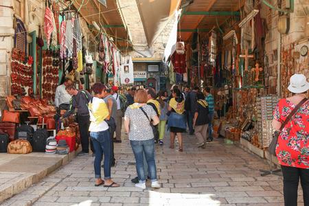Old city market of jerusalem