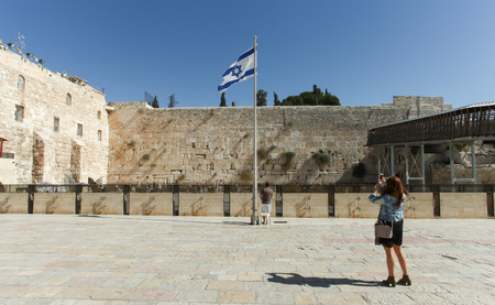 wailing: View of the the wailing wall Jerusalem Editorial