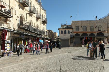 Tourists at Jaffa gate Jerusalem