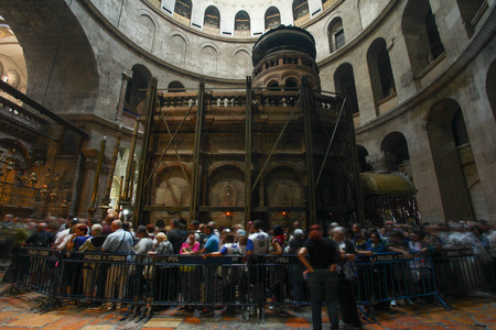 Visitors at the Church of the holy Sepulcher Editorial