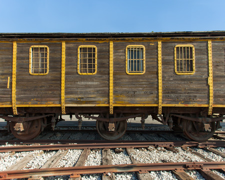treblinka: Old train wagon Stock Photo