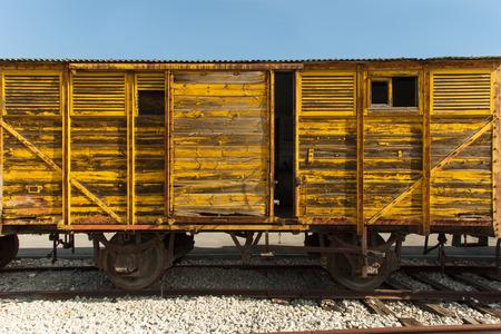 Old train wagon Banco de Imagens - 34184642